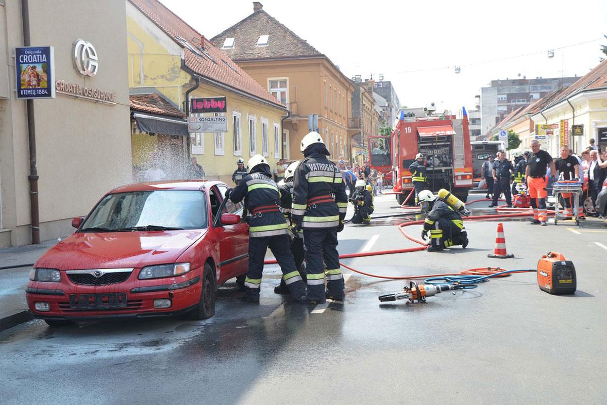 Vježba - ulica AiS Radića Sisak 2018.